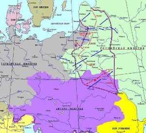 Линия фронта 1915